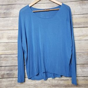 Vince Blue Stretch Jersey Knit Slouchy Dolman Top
